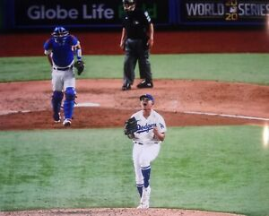 LOS ANGELES DODGERS- JULIO URIAS FINAL OUT 2020 WORLD SERIES 8X10 PHOTO