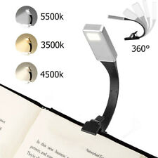 USB Rechargeable Clip On Book Light LED Flexible Reading Lamp For Reader Kindle☆