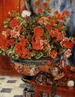 Auguste Renoir Painting Geraniums and Cats Fine Art Giclee Print on Canvas Small