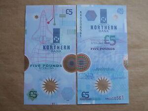 NORTHERN  BANK  £5  NOTE  POLMER,1999 ,PREFIX  MM , UNCIRCULATED