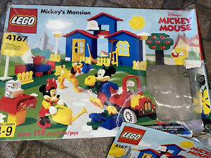 Lego 4167 Mickey's Mansion Disney Mickey Mouse IOB 99% Complete Missing 1 Chair