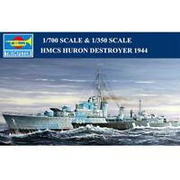 Trumpeter 05759 05333 1/700 1/350 HMCS Huron Destroyer 1944 Battleship Model Kit