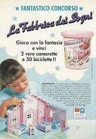 X2693 La Fabbrica dei Sogni - Editrice Giochi - Pubblicità 1991 - Advertising