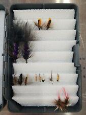 Fly fishing flies box, with flies