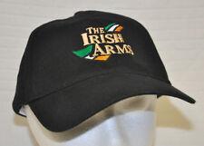THE IRISH ARMS Black BASEBALL Cap HAT Black ADJUSTABLE Green WHITE Orange LOGO