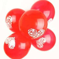 50 X 10 inch Printed - Hearts Latex Balloons Valentine's Day Red