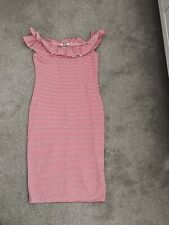 Red And White Stripped Bardot Zara Dress Size Small