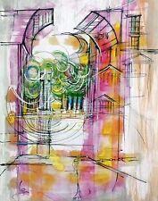 Tableau, peinture, moderne, architecture, Montpellier, decoration,France