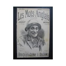 JACQUET et MATHIAS Les Mots Anglais Chansonnette partition sheet music score