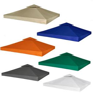 310g/m² Ersatzdach Dach für Pavillon 3x3m Kaminabzug Pavillondach Partyzelt Neu