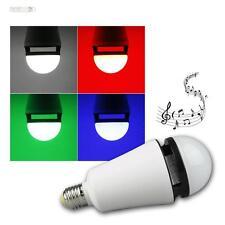 E27 LED Leuchtmittel, RGB & weiß Birne 4W 230V Lampe mit Bluetooth Lautsprecher