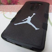 Jordan Jumping Man Impact Hard+Rubber Hybrid Black Cover Case for LG V10