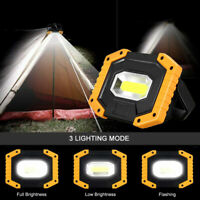 LED Rechargeable Mobile Portable Work Site COB Flood Light Camping Fishing  Lamp