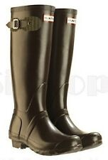 Hunter Festival Tall Rain Boot Brown Chocolate  4 M   5 F   35 / 36 EU NEW