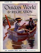 FISHING, HUNTING, CAMPING, BOATING, 1913 OUTDOOR WORLD & RECREATION MAGAZINE