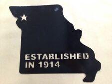 Metal Art State Missouri MO Established 1914 CLEARANCE Steel Black Custom Decor
