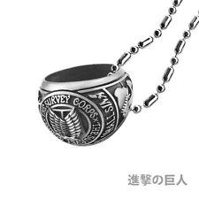 Attack On Titan Collier Necklace Ring Cosplay Attache Dei Géants Eren Mikasa