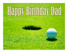 Golf Golfing edible cake image decoration party cake topper frosting