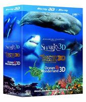 JEAN-MICHEL COUSTEAU IMAX 3D Film Trilogy [Blu-ray 3-Disc Set] Ocean Wonderland