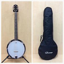 Caraya Bj-006 6-string Mahogany Resonator Banjo W/ Gig Bag