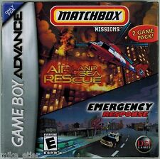 Matchbox Missions: Air, Land, and Sea Rescue & Emergency Response (GBA) NEW