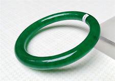 NEW 100%NATURAL JADEITE LIGHT GREEN EMERALD BRACELETS 62.5MM