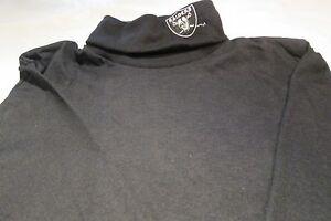 Oakland Raiders Youth Large Long Sleeve Turtle Neck T-Shirt  NFL Majestic