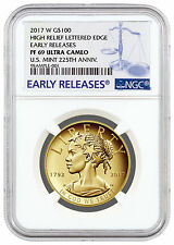 2017-W Liberty 225th Annv High Relief Gold $100 NGC PF69 UC ER SKU45291