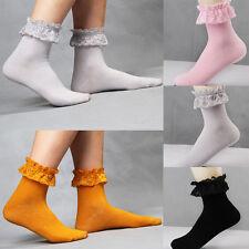 Sweet Lace Socks Women Princess Vintage Cute Girl Ruffle Frilly Ankle Socks WL
