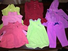 Ralph Lauren Polo CLOTHING MULTI  6 9 18 Month Lot 7PC INFANT Girls