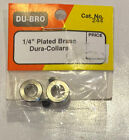 """Dubro 1/4"""" Plated Brass Dura-Collars For Model Airplanes -  #244"""