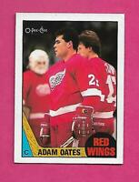1987-88 OPC # 123 WINGS ADAM OATES  ROOKIE VG+ CARD (INV# C4404)