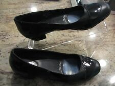 """DREW Barefoot Freedom size 37 leather and patent 1"""" pumps"""