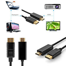 DisplayPort DP to HDMI Male to Male Display Port Cable Cord Adapter Converter GT