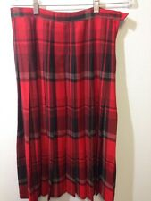 Pendleton Red Black Skirt Size 12 School Girl Look