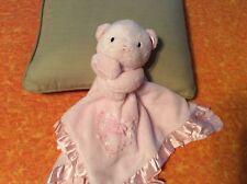 Carters Baby Pink Teddy Bear Lovely Blanket Blankie lovey 14 X 14
