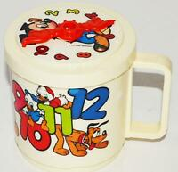 DISNEY Child's Drinking Learning Cup Clock & Numbers Mickey Minnie Mouse Donald
