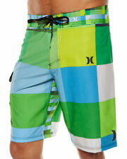 HURLEY Boardshort PHANTOM 60 KINGSROAD Tg.48  NEON GREEN BLUE