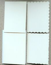 4 White Assorted Edged Card Blanks With white Envelopes 150mm x 105mm