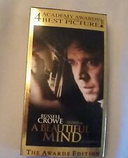 Video - A Beautiful Mind VHS with Russell Crowe Academy Award for Best Picture