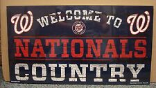 """WASHINGTON NATIONALS WELCOME TO NATIONALS COUNTRY WOOD SIGN 13""""X24'' WINCRAFT"""