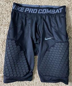 Nike Pro Combat Padded Compression Shorts Mens Sz Large Black