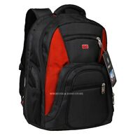 "Swiss Army Travel Gear Men 15"" Laptop Backpack Rucksack Outdoor School Bags RED"