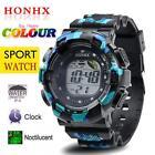 Men's Fashion LED Digital Alarm Date Army Watch Waterproof Sport Wrist Watches