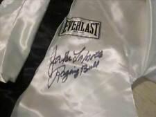 Jake LaMotta Signed White Satin Everlast Boxing Robe Raging Bull Steiner Coa