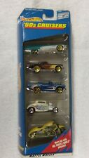 Hot Wheels 1998 '50s Cruisers 5 Car Gift Pack  caddy t-bird chevy coupe harley