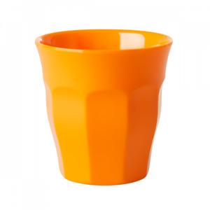 Rice DK Medium Melamine Cup Solid Colour Tangerine