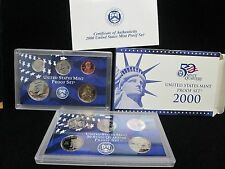 2000 US MINT PROOF SET WITH BOX AND COA