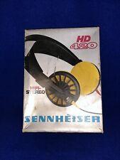 Sennheiser HD420 headphones, with original box + instructions Working Order