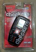 Vintage Radica Pocket Checkers Handheld Game model #9917 Factory Sealed NOS 1998